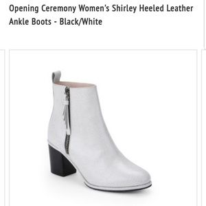Opening Ceremony Shirley leather boots